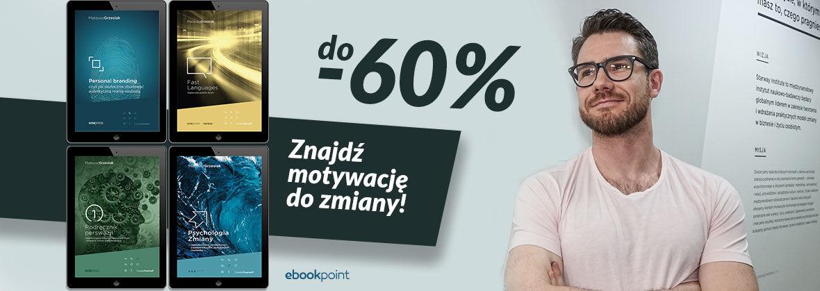 Promocja na ebooki MATEUSZ GRZESIAK / Ebooki i audiobooki do -60%